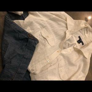 Linen gap shirt